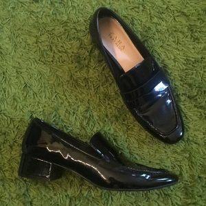 Zara trafaluc patent black size 39
